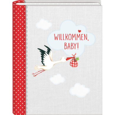Coppenrath Kleines Foto-Einsteckalbum: Willkommen, Baby! Baby Glück - bunt