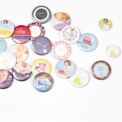 Foto-Button klein (4er Set)