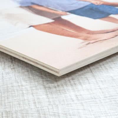 Foto auf Holz 80 x 30 cm