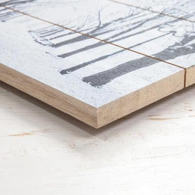 Foto auf Holzlatten 75 x 48.8 cm