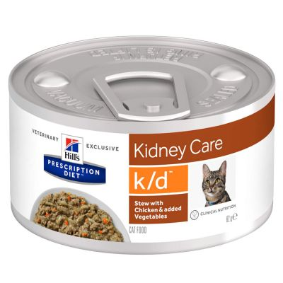 Hill's Prescription Diet k/d Kidney Care Ragout mit Huhn für Katzen - 48 x 82 g