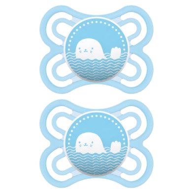 MAM Schnuller Perfect blau 0 - 6 Monate Silikon 2 Stück
