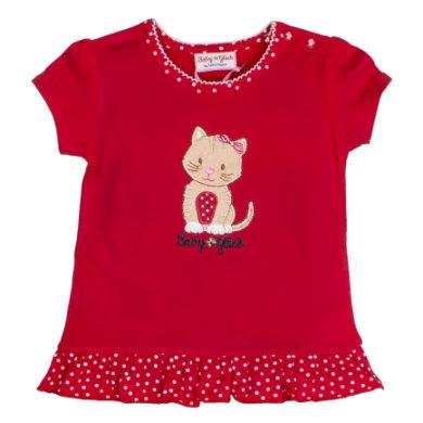 Salt and Pepper BabyGlück Girls T-Shirt Rüschen cherry red - rot - Gr.68 - Mädchen