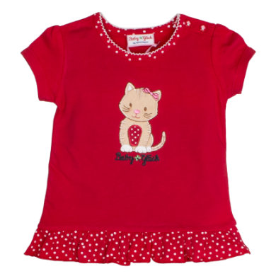Salt and Pepper BabyGlück Girls T-Shirt Rüschen cherry red - rot - Gr.Babymode (6 - 24 Monate) - Mädchen