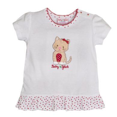 Salt and Pepper BabyGlück Girls T-Shirt Rüschen white - weiß - Gr.Babymode (6 - 24 Monate) - Mädchen