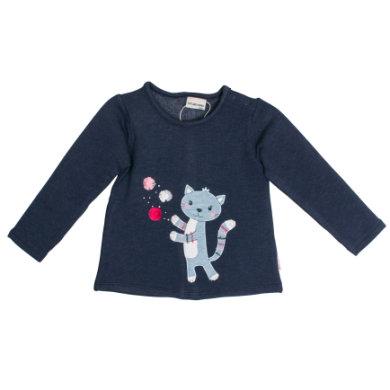 Salt and Pepper Girls Sweatshirt Mon Amie Katze crown blue - blau - Gr.74 - Mädchen