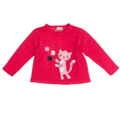 Salt and Pepper Girls Sweatshirt Mon Amie Katze paradise pink - rosa/pink - Gr.74 - Mädchen