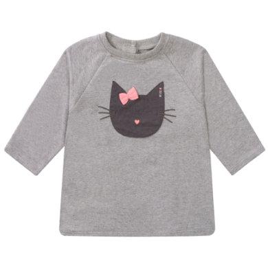 Staccato Girls Sweatshirt soft stone melange - grau - Gr.74 - Mädchen