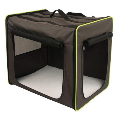 Transporthütte First Class Basic + Fleecedecke Pawty - Box Größe M + Decke L 100 x B 70 cm