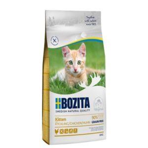 9 kg + 1 kg gratis! 10 kg Bozita Trockenfutter für Katzen - Grainfree Kitten