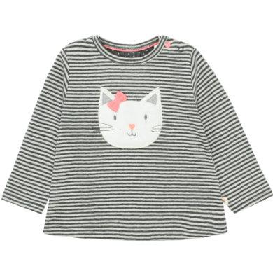 Staccato Girls Langarmshirt graphit melange gestreift - grau - Gr.86 - Mädchen