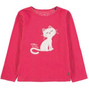 Tom Tailor Girls Langarmshirt, pink - rosa/pink - Gr.104/110 - Mädchen