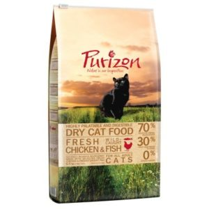 5,5 kg + 1 kg gratis! 6,5 kg Purizon getreidefreies Katzentrockenfutter - Adult Ente & Fisch