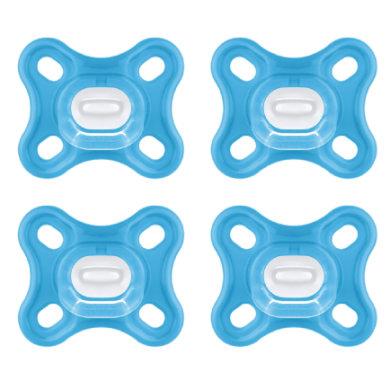 MAM Schnuller Comfort Silikon 0+ 4er-Set blau