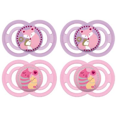 MAM Schnuller Perfect Silikon 16+ Monate 4 Stück rosa - rosa/pink