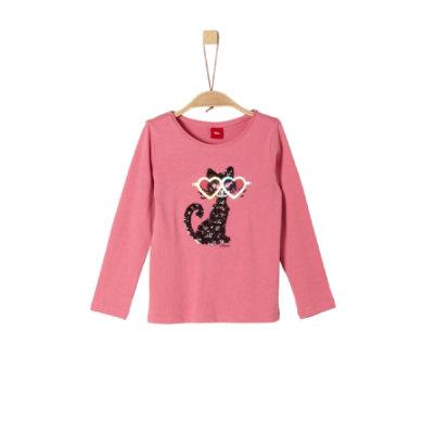 s.Oliver Girls Langarmshirt pink - rosa/pink - Gr.104/110 - Mädchen