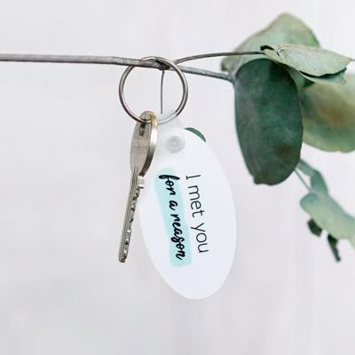 Foto-Schlüsselanhänger Hochformat Schmal