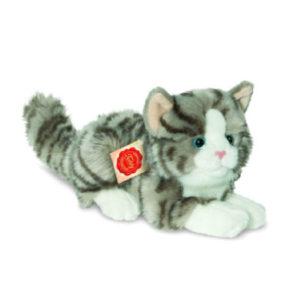 Teddy HERMANN® Katze liegend grau, 20 cm