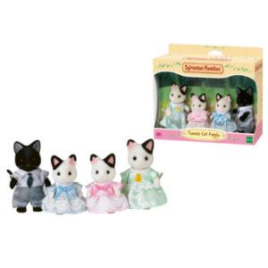 Sylvanian Families® Familie - Tuxedo Katzen: Familie Schwarzohr