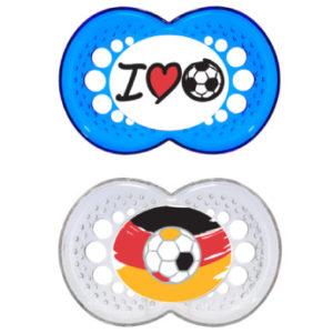 MAM Schnuller Fußball 16+ Monate Silikon