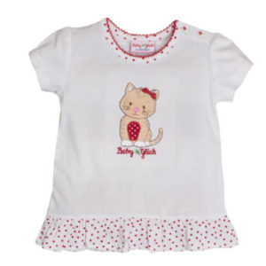 SALT AND PEPPER BabyGlück Girls T-Shirt Rüschen white
