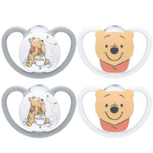 NUK Schnuller Space Disney Winnie The Pooh Gr. 2, 6 - 18 Monate 4 Stück