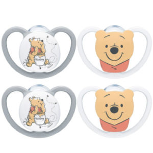NUK Schnuller Space Disney Winnie The Puuh Gr. 2, 18 - 36 Monate 4 Stück