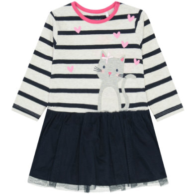 STACCATO Girls Kleid offwhite melange gestreift