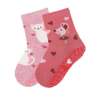 Sterntaler Fliesenflitzer Air Doppelpack Katze/Maus rosa