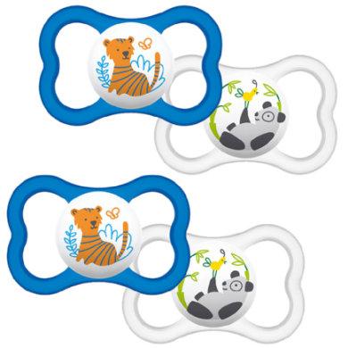 MAM Schnuller Air Silikon 6 - 16 Monate Tiger/ Panda im Doppelpack