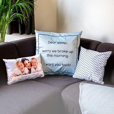 Leinenkissen mit Foto personalisiert (40x40 cm. Kissenbezug beidseitig bedruckt)