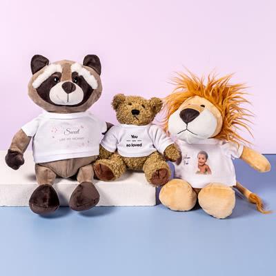 Kuscheltier Fuchs mit Foto-Shirt