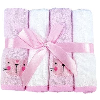 HÜTTE & CO Waschtücher 4er-Pack rosa