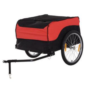 HOMCOM Transportanhänger fürs Fahrrad rot, schwarz