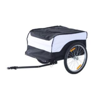 HOMCOM Transportanhänger fürs Fahrrad weiß, schwarz